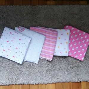 Other - Bundle of Baby Girl Swaddle Blankets